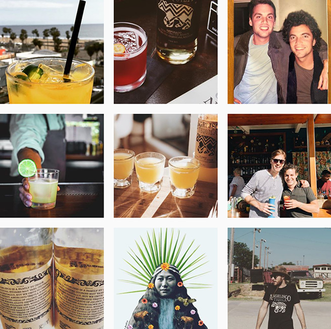 Angelisco Tequila Instagram feed