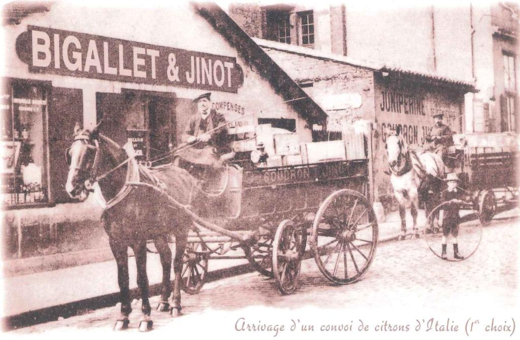 Bigallet historic image of horse and buggy in Isere, France
