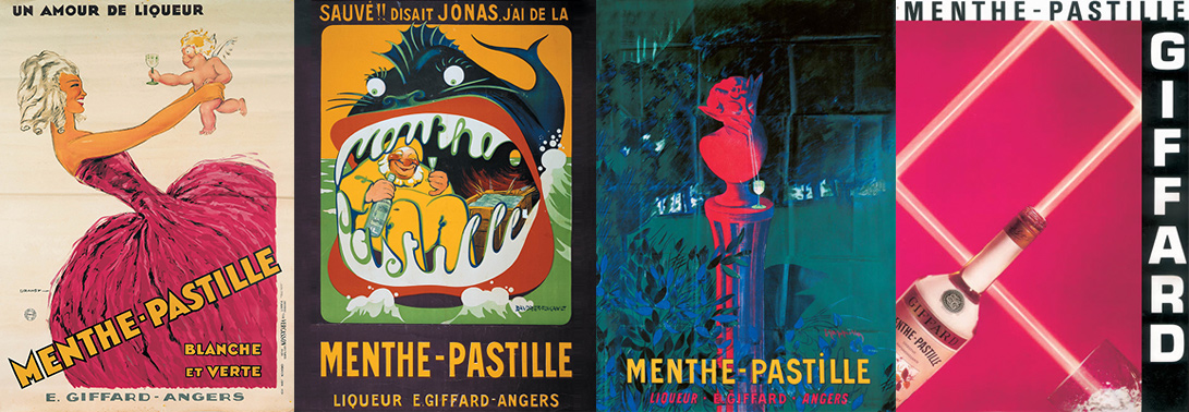 Giffard Menthe Pastille historic posters