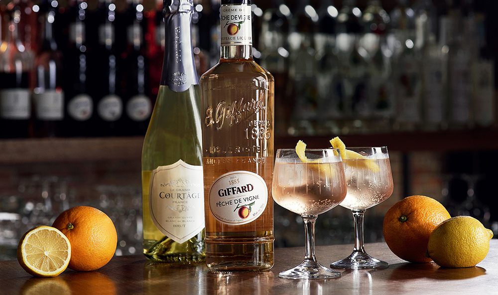Giffard French Soda cocktail