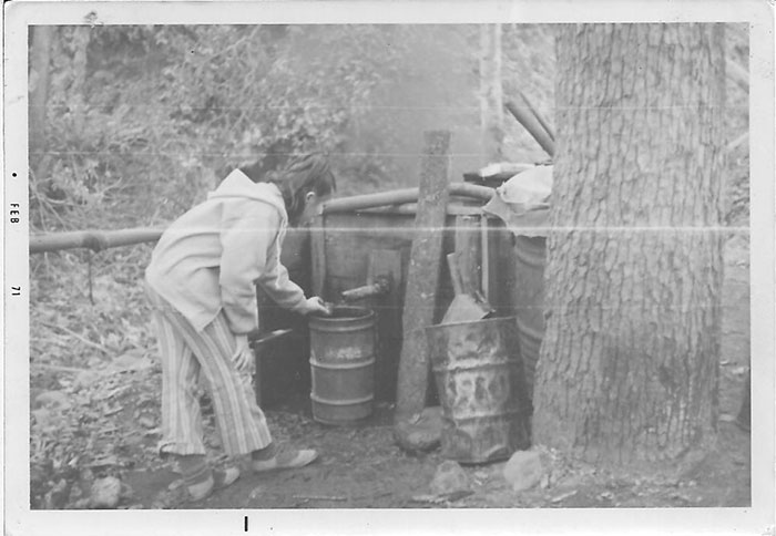 Historic photo of Mexican sotol production