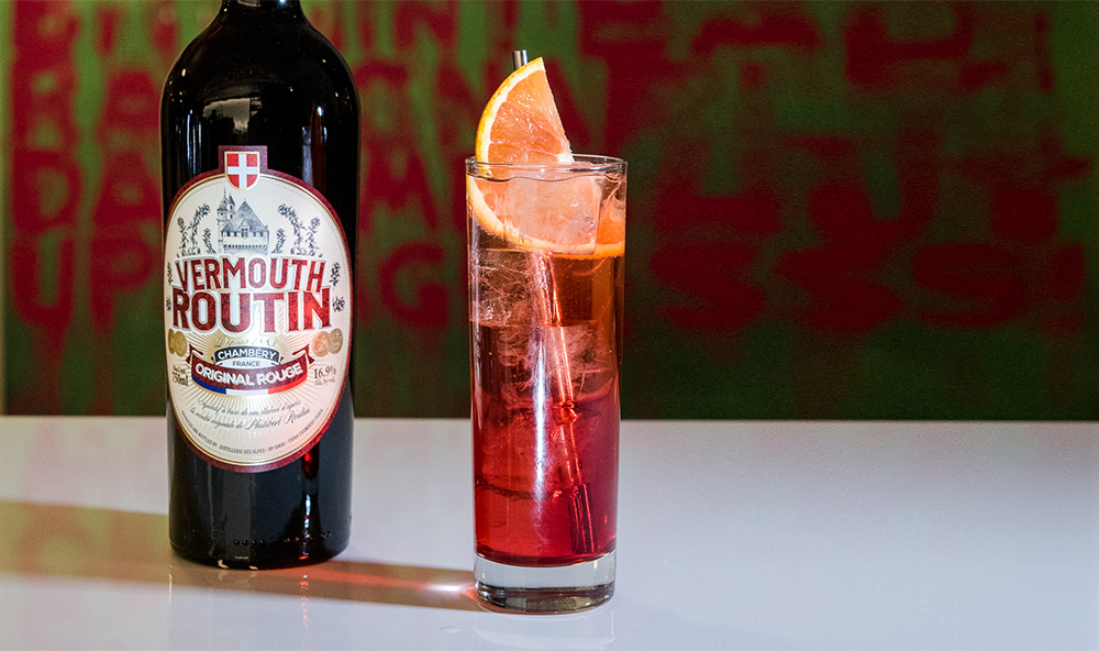 Vermouth Routin Vermouth Spritz cocktail