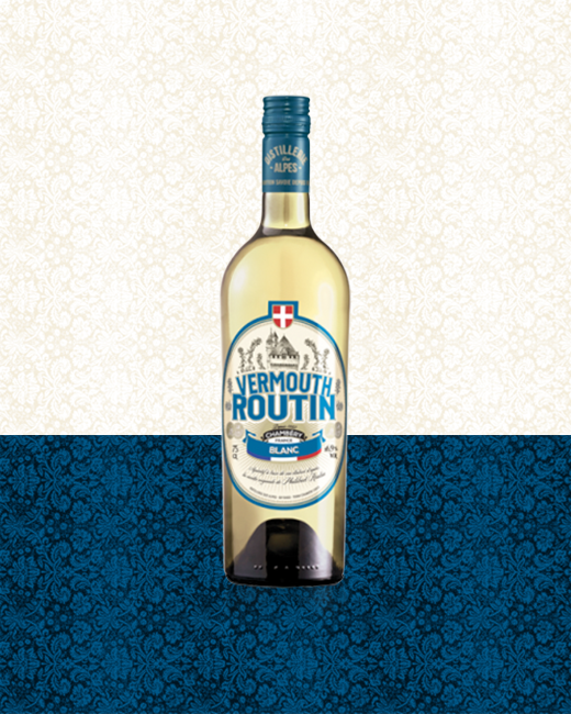 Vermouth Routin Blanc bottle